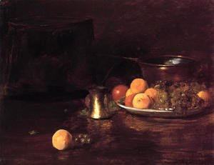 William Merritt Chase - Still Life - Fruit