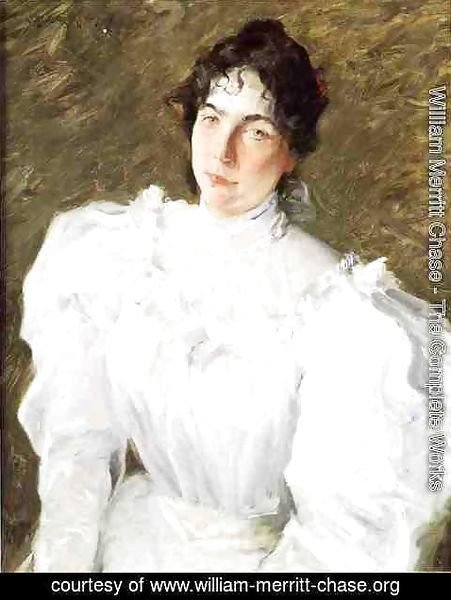 William Merritt Chase - Portrait of Virginia Gerson I