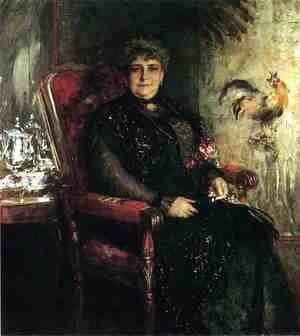 William Merritt Chase - Portrait of Mme. E. H. Bensel