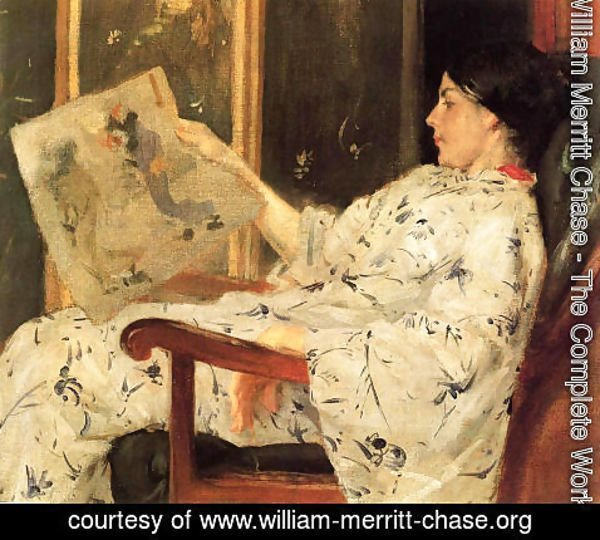 William Merritt Chase - The Japanese Print