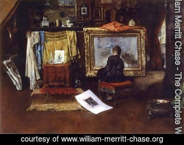 William Merritt Chase - The Inner Studio, Tenth Street
