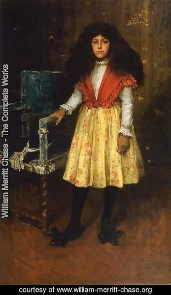 William Merritt Chase - Portrait of Erla Howell