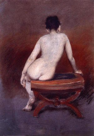 William Merritt Chase - Back of a Nude I