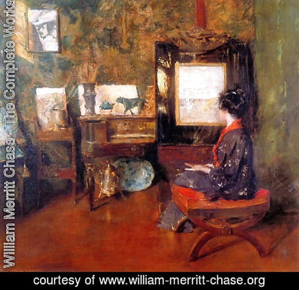 William Merritt Chase - Alice in the Shinnecock Studio 2