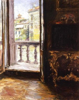 William Merritt Chase - A Venetian Balcony