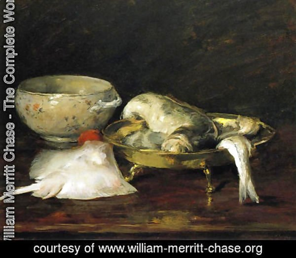 William Merritt Chase - Still Life with Fish II