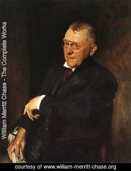 William Merritt Chase - Portrait of James Whitcomb Riley