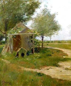 William Merritt Chase - The Back Yard, Shinnecock, Long Island, New York