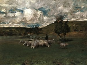 William Merritt Chase - View near Polling