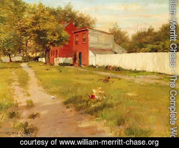 William Merritt Chase - The White Fence