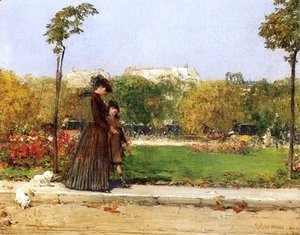 William Merritt Chase - In the Park, Paris
