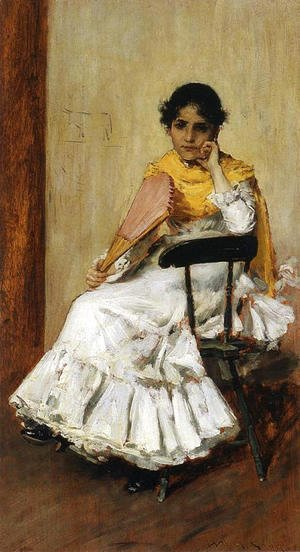 William Merritt Chase - A Spanish Girl aka Portrait of Mrs. Chase in Spanish Dress
