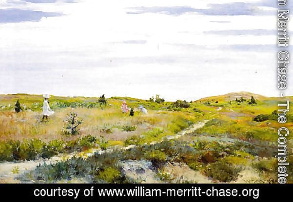 William Merritt Chase - Along the Path at Shinnecock 2