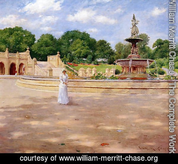 William Merritt Chase - An Early Stroll in the Park