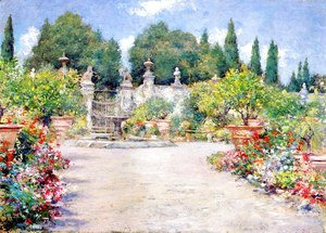 William Merritt Chase - An Italian Garden