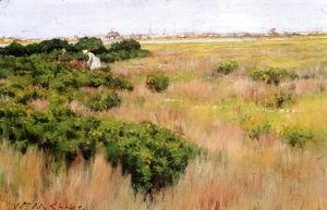 William Merritt Chase - Landscape, near Coney Island