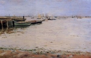 William Merritt Chase - Misty Day, Gowanus Bay