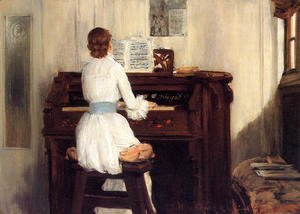 Mrs. Meigs at the Piano Organ