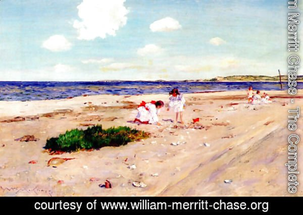 William Merritt Chase - Shell Beach at Shinnecock