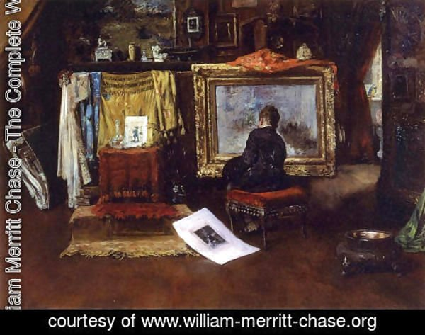 William Merritt Chase - The Inner Studio, Tenth Street 2