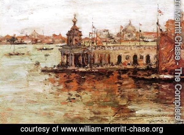 William Merritt Chase - Venice, View of the Navy Arsenal
