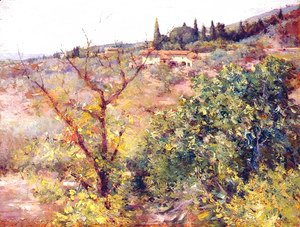 William Merritt Chase - View of Fiesole
