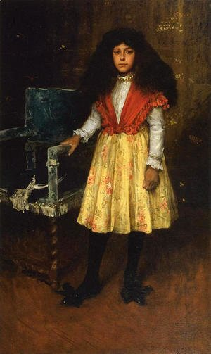 William Merritt Chase - Portrait of Erla Howell (aka Little Miss H.)