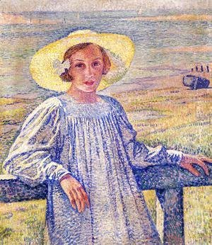 Elisaeth van Rysselberghe in a Straw Hat 1901