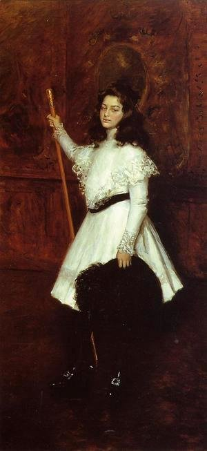 William Merritt Chase - Girl in White (aka Portrait of Irene Dimock) 1898-1901