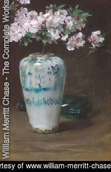 William Merritt Chase - Pink Azalea Chinese Vase 1880
