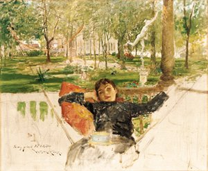 William Merritt Chase - An Idle Afternoon