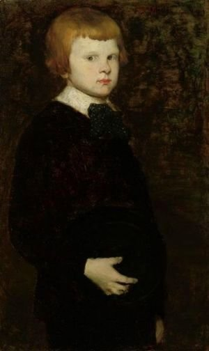 Portait Of A Young Boy (Son Of Karl Theodor Von Piloty)