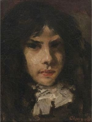 William Merritt Chase - Head Of A Girl