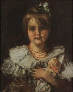 William Merritt Chase - Portrait Of Helen