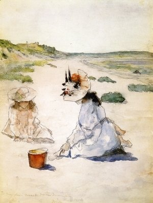 William Merritt Chase - On the Beach, Shinnecock