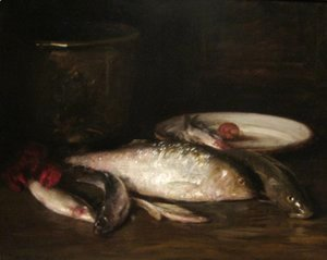 William Merritt Chase - Still-Life with Fish 2