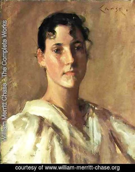 William Merritt Chase - Portrait of a Woman 3