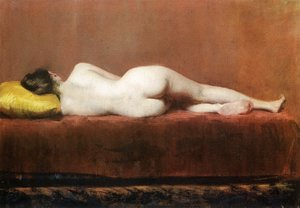 William Merritt Chase - Nude Recumbent