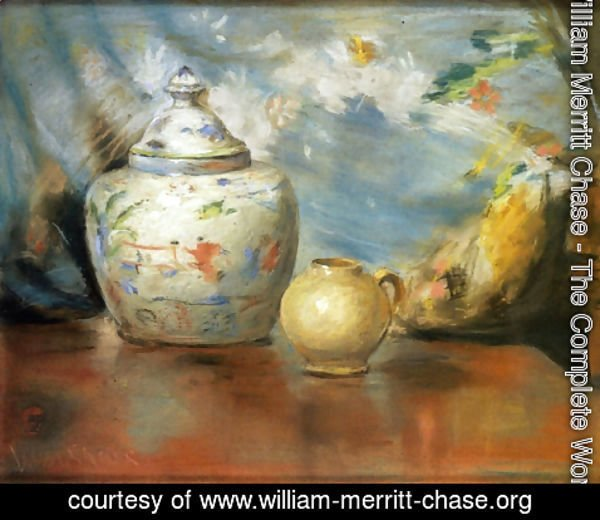 William Merritt Chase - Still LIfe with Flowers