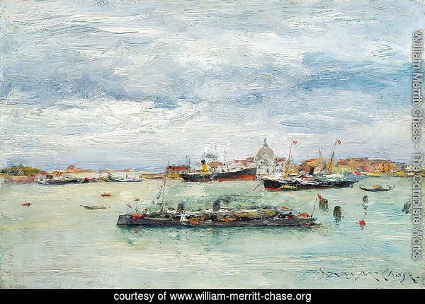 Gray Day on the Lagoon (A Passenger Boat - Venice)