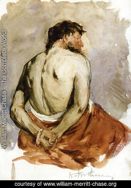 William Merritt Chase - Back of a Male Figure