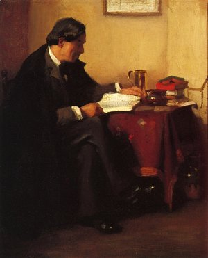 William Merritt Chase - Portrait of Elbert Hubbard (The Roycrafter)