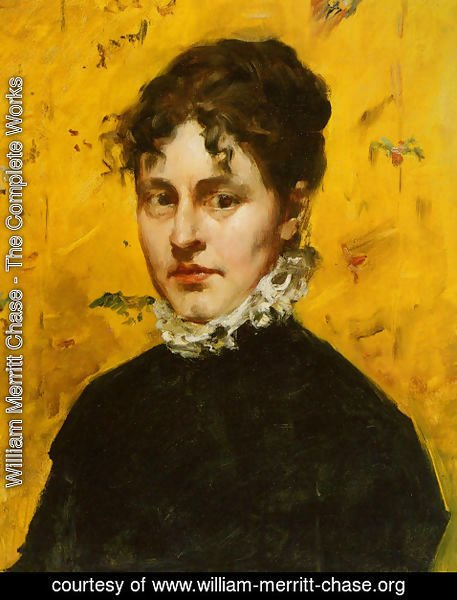 William Merritt Chase - Portrait of the Artist's Sister-in-Law