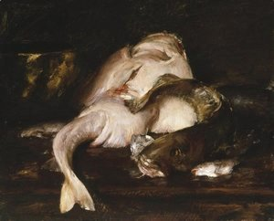 William Merritt Chase - Still Life, Fish