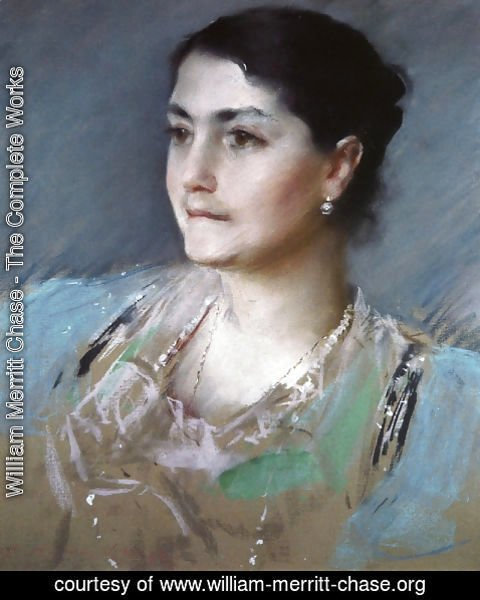 William Merritt Chase - Portrait of Mrs. William Chase