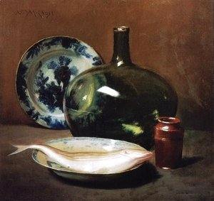 William Merritt Chase - Still Life with Fish 3
