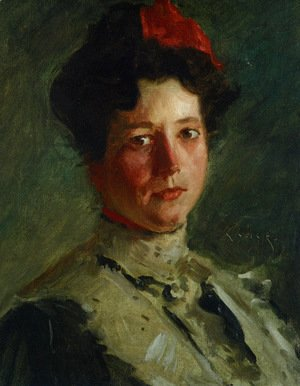 William Merritt Chase - Portrait of Martha Walter