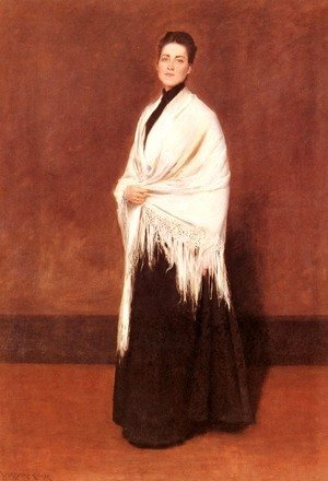 William Merritt Chase - Portrait of Mrs. C