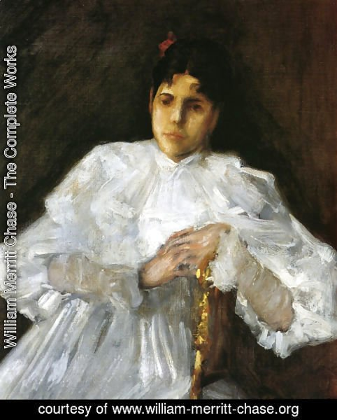 William Merritt Chase - Girl in White 2