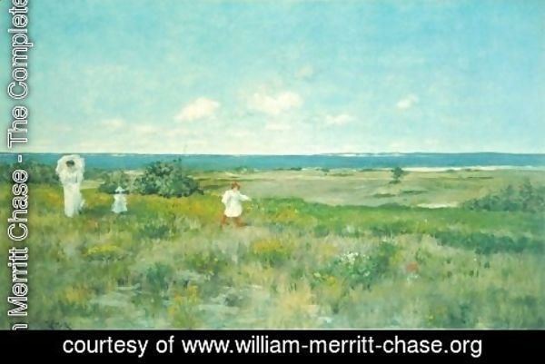 William Merritt Chase - Near the beach, Shinnecock